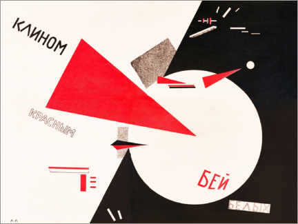 Wall sticker  Hit the Whites with the Red Wedge - El Lissitzky