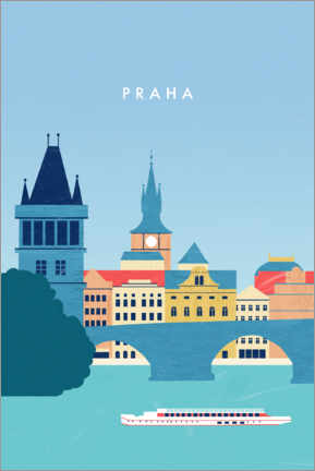 Wall sticker  Prague - Katinka Reinke