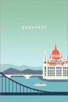 Canvas print  Budapest Illustration - Katinka Reinke