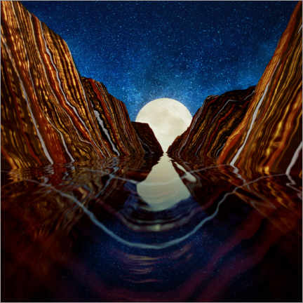 Gallery print  Moon Reflection - SpaceFrog Designs