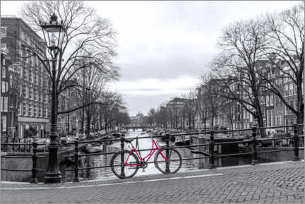 Canvas print  Red bicycle in Amsterdam - George Pachantouris