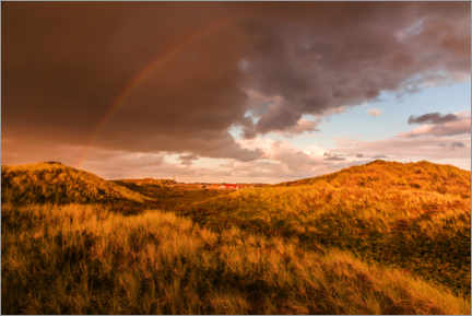 Premium poster  The end of the rainbow, Sylt - Christian Müringer