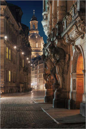Acrylic print  Georgentor and Frauenkirche - Tobias Roetsch