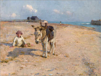 Acrylic print  On Suffolk Sands - Walter Frederick Osborne