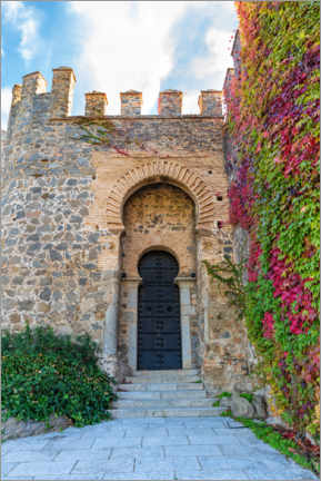 Premium poster Castle door in Toledo, Spain