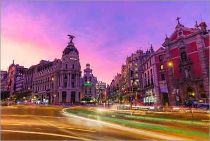 Premium poster  Rush hour in Madrid city center - Mike Centioli