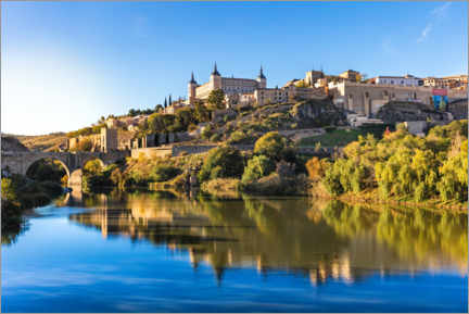 Premium poster Sunrise in Toledo, Spain