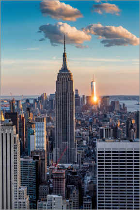 Premium poster  Empire State Building in the sunset - Mike Centioli