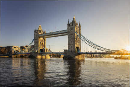 Premium poster London Tower Bridge at sunrise