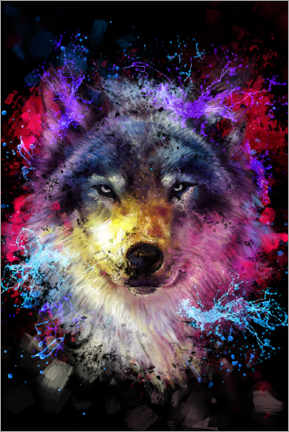 Acrylic print  Wolf - Dmitry Belov