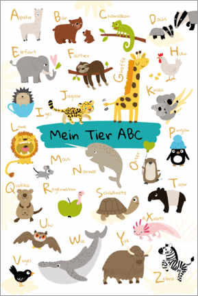 Canvas print  My animal ABC - Julia Reyelt