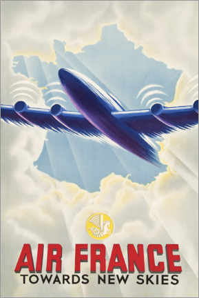 Acrylic print  Air France - Towards New Skies - Travel Collection