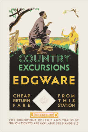 Premium poster Country excursions, Egware