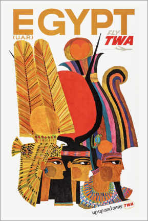 Premium poster  Egypt via TWA - Travel Collection