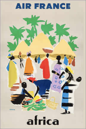 Premium poster  Africa via Air France - Travel Collection