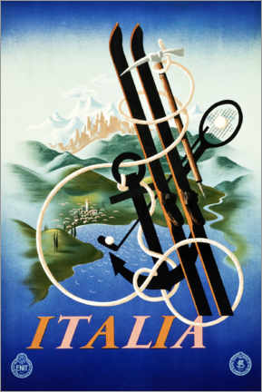 Premium poster Italy, The Ideal Land for all Sports
