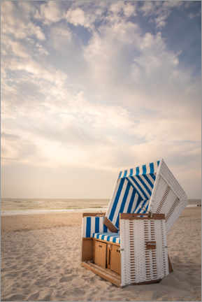 Foam board print  Sylter beach chair in the soft evening light - Christian Müringer