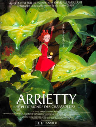 Canvas print  Arrietty (French) - Entertainment Collection