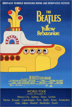 Canvas print  The Beatles - Yellow Submarine - Entertainment Collection