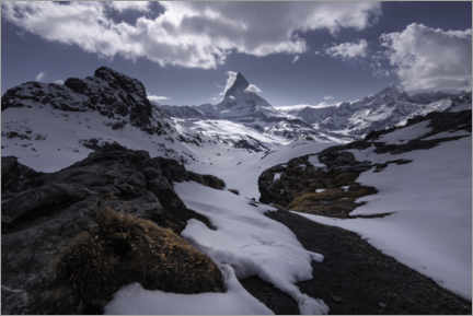 Acrylic print  Matterhorn in the Swiss Alps near Zermatt - Christian Möhrle