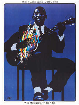 Premium poster  Wes Montgomery 1923 - 1968 - Entertainment Collection