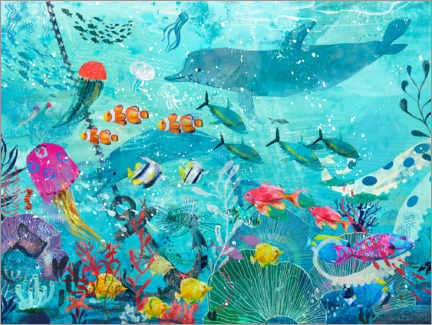 Aluminium print  Colorful Underwater World - Kidz Collection