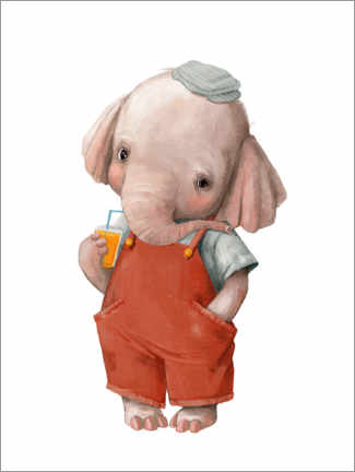 Canvas print  Little Elephant - Kidz Collection
