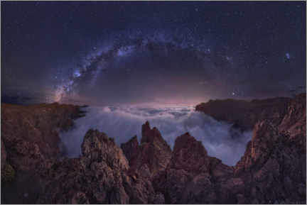 Premium poster Milky Way over the Sea of Clouds