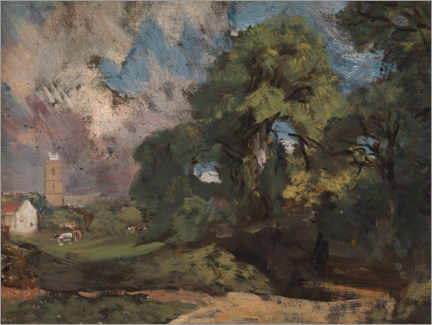 Canvas print  Stoke by Nayland - John Constable