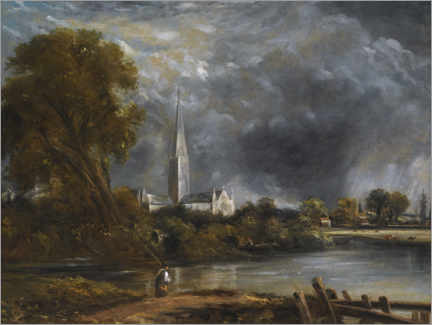 Wall sticker  Salisbury Cathedral from the meadows - John Constable