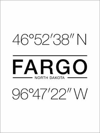 Wall sticker Fargo - Geographic coordinates