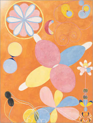 Foam board print  The Ten Largest, No. 4, Youth - Hilma af Klint