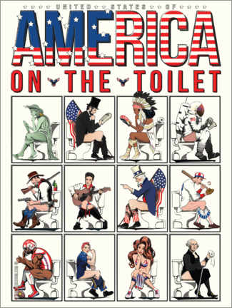 Premium poster  America on the toilet - Wyatt9