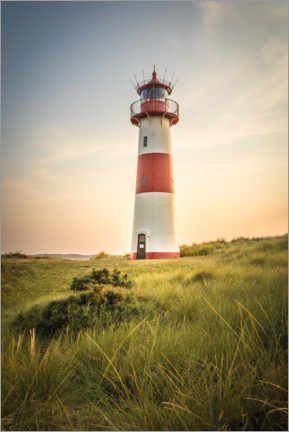 Premium poster  Sunset at the lighthouse on Sylt - Christian Müringer