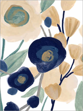 Gallery print  Blue poppy cascade - June Erica Vess