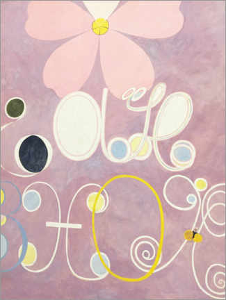 Wood print  The Ten Largest, No. 5, Adulthood - Hilma af Klint