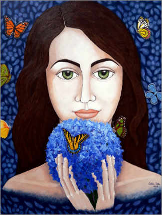 Acrylic print  The Woman Who Talks With Butterflies - Madalena Lobao-Tello