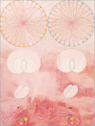 Aluminium print  The Ten Largest, No. 9 - Hilma af Klint