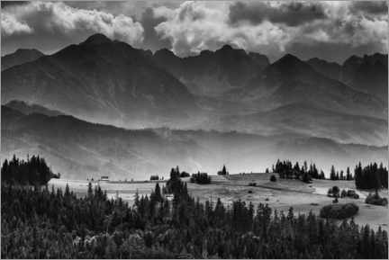 Premium poster  Mountain landscape in the High Tatras - Mikolaj Gospodarek