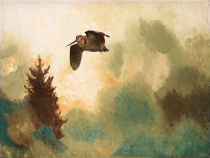 Wall sticker  Landscape with snipe - Bruno Andreas Liljefors