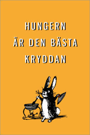 Canvas print  Hunger is the best spice (Swedish) - Typobox