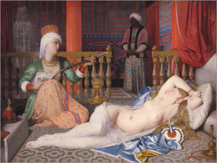 Wall sticker  Odalisque with a slave - Jean Auguste Dominique Ingres