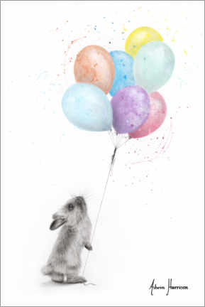 Acrylic print  The Bunny and the Balloons - Ashvin Harrison