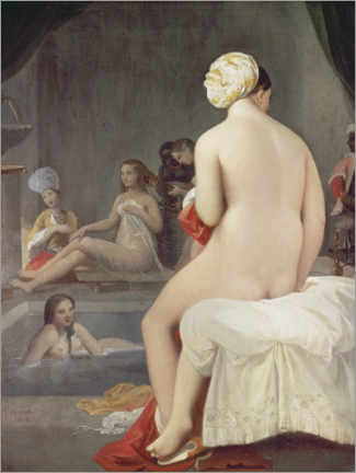 Acrylic print  The little bather - Jean Auguste Dominique Ingres