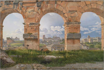 Gallery print  View through three arches from the Colosseum - Christoffer Wilhelm Eckersberg