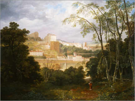 Canvas print  View of Clifton from Leigh Woods - Francis Danby
