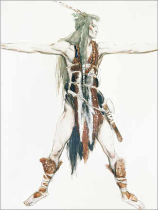 Acrylic print  Costume design for Siegfried - Charles Ricketts