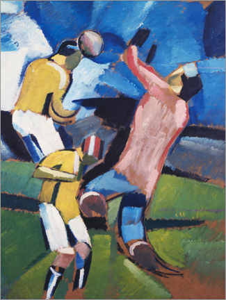 Canvas print  Football, soccer players - Harald Giersing