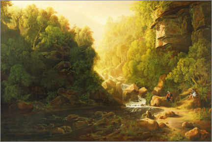 Acrylic print  The mountain stream - Francis Danby
