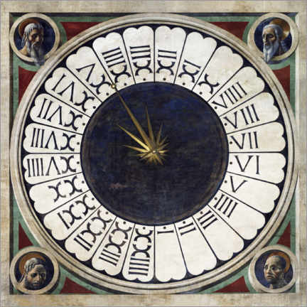 Acrylic print  Canonical clock - Paolo Uccello